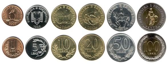 Lek-Albanese-monete