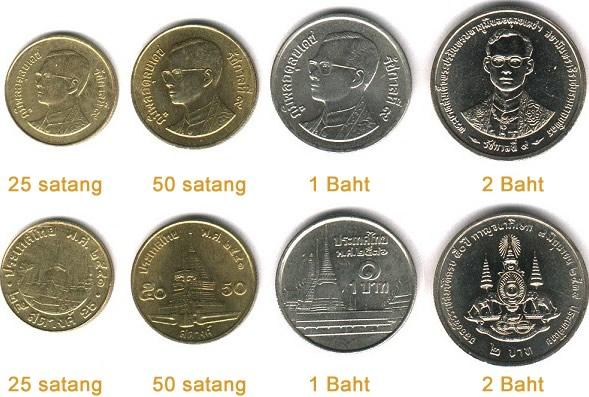 Monete Satang Baht Thailandese