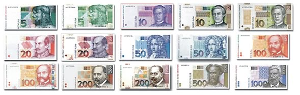 Banconote della kuna croata