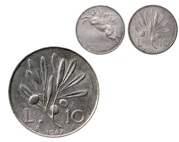 10 lire italiane del 1947