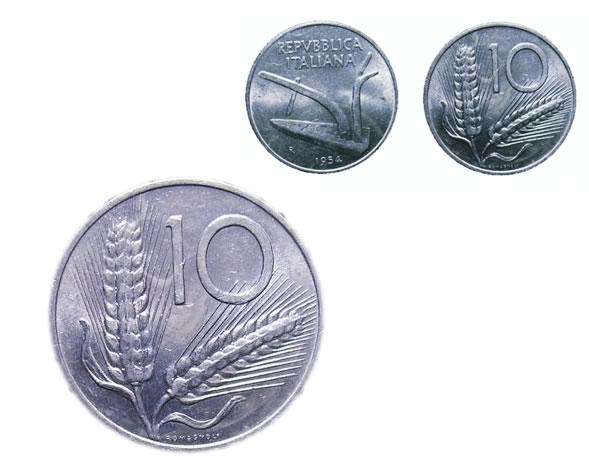 10 lire italiane del 1954