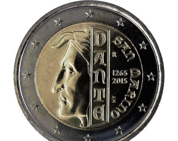 2 euro - San Marino - Dante Alighieri