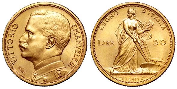 Marengo con il busto di Vittorio Emanuele III (1910)