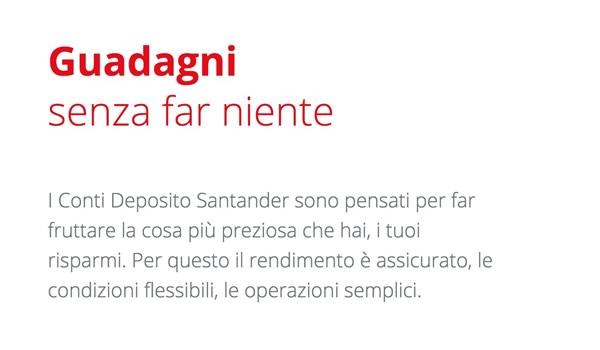Conto deposito Santander Banca