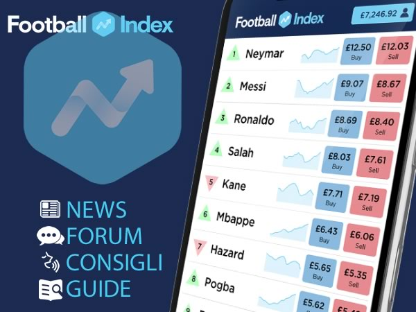 Football Index: Recensione e Opinioni. Come investire nel mercato azionario di calcio.